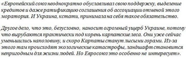 Ищенко: Скоро Карпаты станут лысыми горами