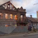 В центре Астрахани горит старинный дом
