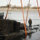 Бронекатер, затонувший вместе с экипажем во время войны, подняли со дна Волги и разминировали