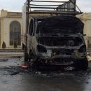 В Астрахани сгорел грузовик