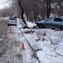 В Астрахани автоледи врезалась в дерево