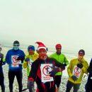 На севере Астраханской области лыжники устроили флешмоб на горе Богдо