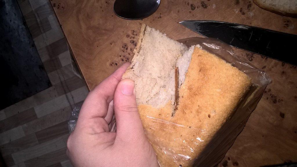 Астраханец нашел в хлебе палку