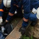 В Астрахани спасали мужчину, упавшего в яму