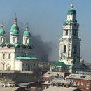 Астраханцы сфотографировали дым возле кремля