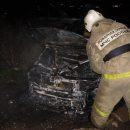 В Астрахани автомобиль загорелся возле заправки