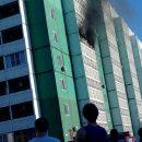 В Астрахани тушили пожар в девятиэтажном доме