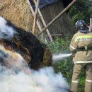 На севере Астраханской области из-за детской шалости случился пожар