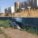 В Астрахани машина опрокинулась после пикника