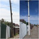 Падающий столб заменили на новый в Астрахани после обращения к губернатору