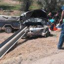 Отбойник пронзил легковую машину под Астраханью