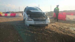 В перевернувшемся авто погиб астраханец