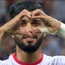 Мошка приняла участие в матче Англия — Тунис
