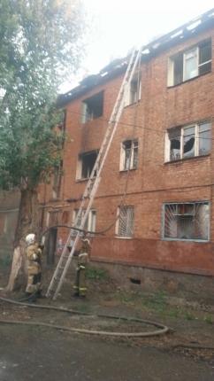 В Астрахани горело злополучное общежитие