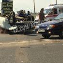 В Астрахани столкнулись три легковые машины, есть погибший