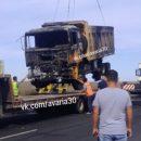 В Астраханской области «Газель» протаранила самосвал и загорелась