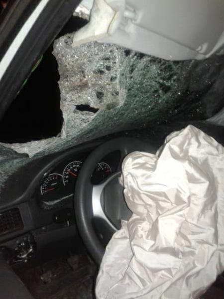 Астраханская полиция показала, что бывает с автомобилем после столкновения с коровой