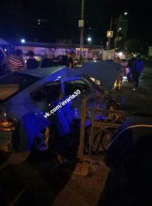 В Астрахани при столкновении двух легковушек пострадал человек