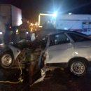 Грузовик раздавил легковушку с тремя людьми на трассе Астрахань-Волгоград