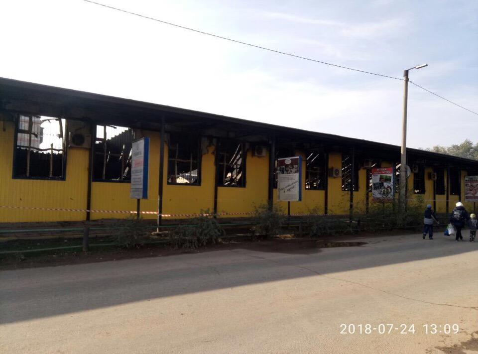 В Ахтубинске сфотографировали что осталось от «Хитрого» рынка