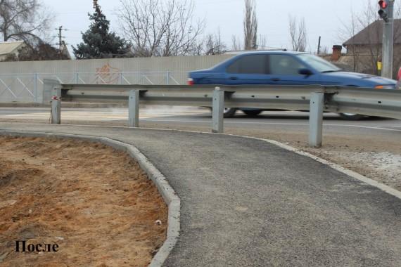 По просьбам жителей Наримановского района обустроили новый тротуар