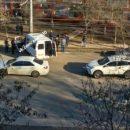 В Астрахани на видео попало столкновение со столбом маршрутки с пассажирами