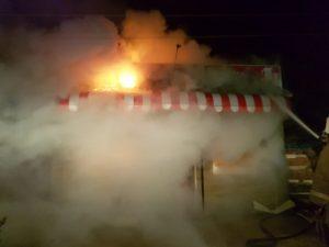 В Астраханской области сгорели дом, павильон и заброшенное здание