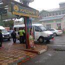 В Астрахани столкнулись две маршрутки