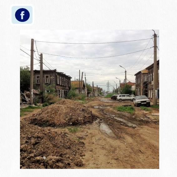 Одна из старейших улиц Астрахани ремонтируется