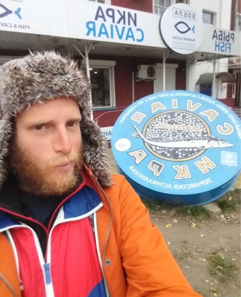 Француз, сплавляющийся по Волге до Каспия на байдарке, побывал в Астрахани