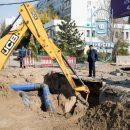 В Астрахани завершаются работы по устранению провала на одной из центральных улиц
